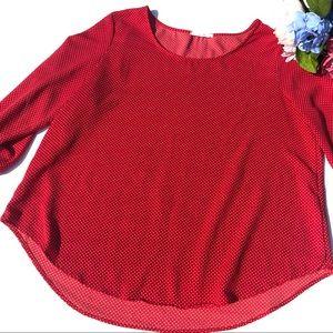 Red Polka Dot Blouse Le Lis Stitch Fix Size L